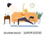 happy healthy young man... | Shutterstock .eps vector #1690910530