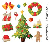 christmas and new year symbols... | Shutterstock .eps vector #1690915210