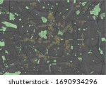 milan vector map with dark... | Shutterstock .eps vector #1690934296