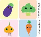 four vegetables  eggplant ...