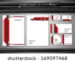corporate identity kit or... | Shutterstock .eps vector #169097468