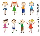small and smile boys and girls... | Shutterstock . vector #169103030