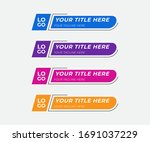 colorful lower thirds pack... | Shutterstock .eps vector #1691037229