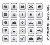 transportation icon set on gray | Shutterstock .eps vector #169104068
