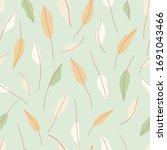 hand drawn leaves seamless... | Shutterstock .eps vector #1691043466