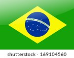 brazil flag   illustration. | Shutterstock . vector #169104560