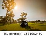 Golf Cart On Golf Course ...