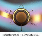 blue  pink and gold abstract...   Shutterstock . vector #1691082313