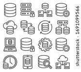 database icons set on white...   Shutterstock .eps vector #1691099566