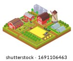 agricultural industry isometric ... | Shutterstock .eps vector #1691106463