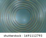 abstract blue tech geometric... | Shutterstock .eps vector #1691112793