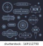 unique retro labels. eps8. | Shutterstock .eps vector #169112750