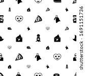 cartoon icons pattern seamless. ... | Shutterstock .eps vector #1691151736