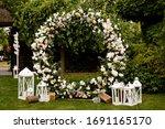 Beautiful Wedding Set Up. Area...