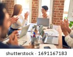 group of business workers... | Shutterstock . vector #1691167183