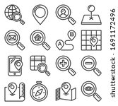 find and search related icons...   Shutterstock .eps vector #1691172496