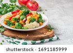 Mix Of Stewed Vegetables In A...