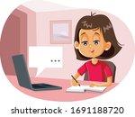 happy student in digital...   Shutterstock .eps vector #1691188720