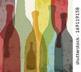 bottles of wine  whiskey ... | Shutterstock .eps vector #169119158