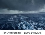 The View Of The Stormy Sea And...