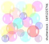 air babble foam circle holiday | Shutterstock . vector #1691225746