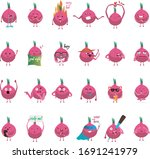 red onions smile face vector | Shutterstock .eps vector #1691241979