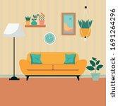furniture  sofa  bookcase ... | Shutterstock .eps vector #1691264296