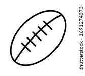 football rugby line icon vector | Shutterstock .eps vector #1691274373