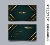 luxury business card design... | Shutterstock .eps vector #1691277616