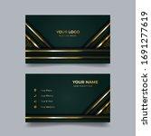 luxury business card design... | Shutterstock .eps vector #1691277619