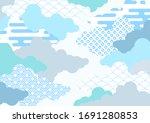 cloud background illustration... | Shutterstock .eps vector #1691280853