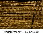 abstract golden circles lights | Shutterstock . vector #169128950