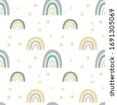 seamless pattern with cute...   Shutterstock .eps vector #1691305069