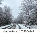 A Snowy New Hampshire Road In...