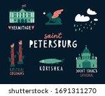 funny hand drawn illustration... | Shutterstock .eps vector #1691311270