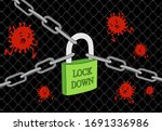 corona virus lock down symbol.... | Shutterstock .eps vector #1691336986