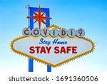 covid 19 stay home stay safe... | Shutterstock . vector #1691360506