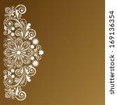 vector vintage floral ... | Shutterstock .eps vector #169136354