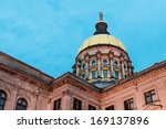 Gold dome of georgia capitol in ...