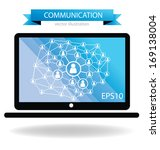 communication concept.... | Shutterstock .eps vector #169138004