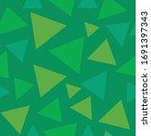 seamless triangle green pattern ...   Shutterstock .eps vector #1691397343