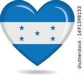 honduras national flag in heart ... | Shutterstock .eps vector #1691398153