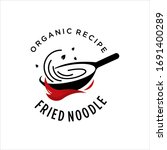 noodle logo cooking pan chef... | Shutterstock .eps vector #1691400289