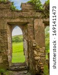 Ruined Arched Window Of Clifde...