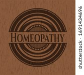 homeopathy realistic wood... | Shutterstock .eps vector #1691434696