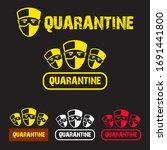 coronavirus quarantine stickers ...   Shutterstock .eps vector #1691441800