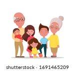 grandparents and grandchildren. ... | Shutterstock .eps vector #1691465209