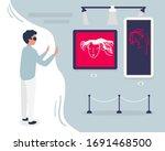 man wear digital glasses...   Shutterstock .eps vector #1691468500