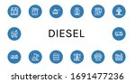 diesel icon set. collection of... | Shutterstock .eps vector #1691477236