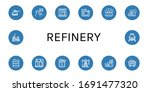 refinery icon set. collection... | Shutterstock .eps vector #1691477320